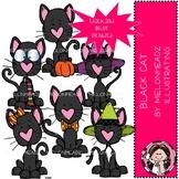 Black cat clip art - Mini - Melonheadz Clipart