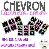 Black chevron calendar cards