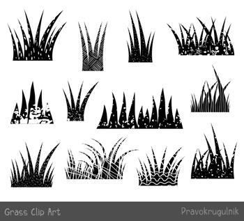 Black grass clipart, Textured silhouette grass border clip art, Divider frame
