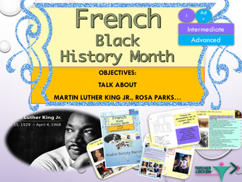 French Black History Month, Martin Luther King Jr. Day full lesson