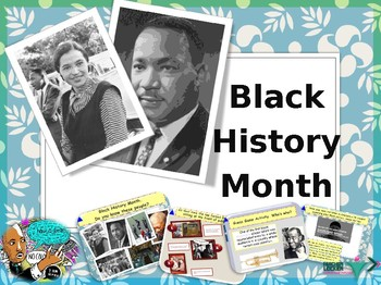 Black history month presentation and activities NO PREP
