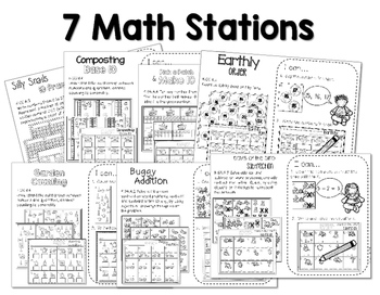 Stations: Black ink ONLY for April