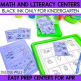 Stations: Black ink ONLY for April