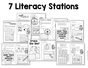 Stations:  Black ink ONLY for August & September