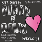Stations: Black ink ONLY for February