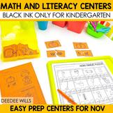 Stations:  Black ink ONLY for November