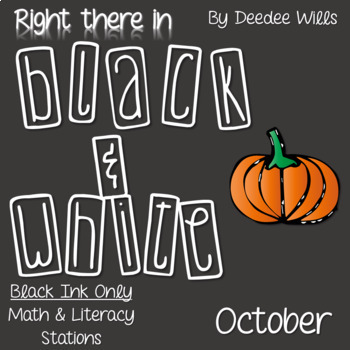 Stations:  Black ink ONLY for October