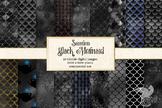 Black mermaid scales textures, seamless mermaid patterns,