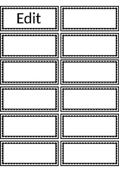 Black n White Labels & Templates for Classroom- Editable