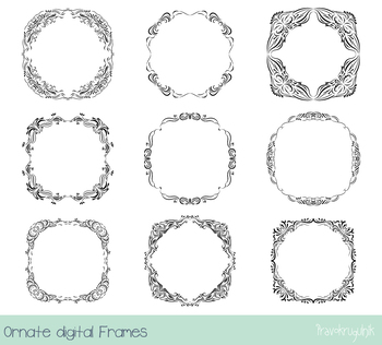 Black Ornate Borders And Frames Clipart Elegant Victorian Frame