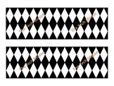 Black & White Harlequin Diamond Bulletin Board Border