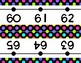 Black with Neon Dots Number Line Wall Display ~ -36 to 202