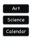 Black with White Dot Schedule Cards