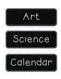 Black with White Dot Schedule Cards 2