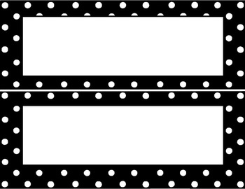 Black with White Polka Dots Room Decor (Editable Files Included)