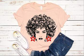 Black woman svg Natural Hair Afro clipart 141sv