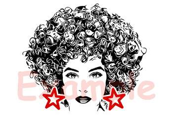 black woman svg natural hair afro clipart 141sv by hamhamart tpt
