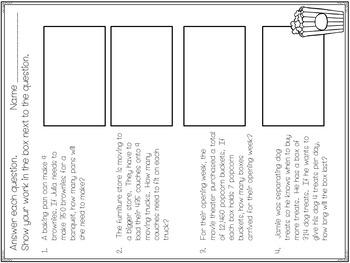 Long Division Task Card Set (single digit divisor)