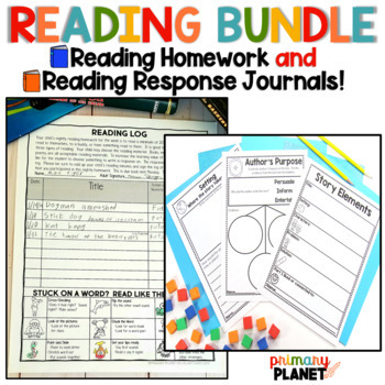 Reading Logs , Reading Responses and Response Journals BUNDLE!