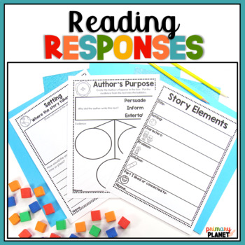 Reading Logs Reading Comprehension Sheets and Response Journals BUNDLE!