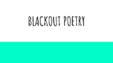 BlackOut Poetry Lesson