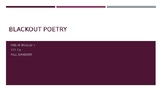 BlackOut Poetry PPT