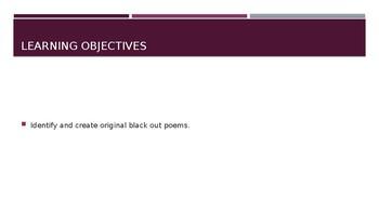 BlackOut Poetry Presentation