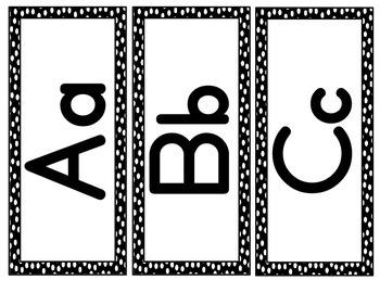 Black Polka Dot - Word Wall Cards
