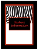 Black/Red/White Teacher Binder