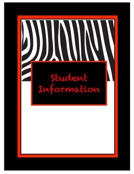 Black/Red/White Teacher Binder