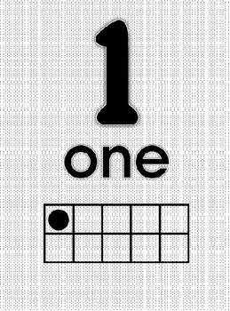 Black/White Number Posters 1-20