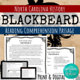 Blackbeard Reading Comprehension Passage