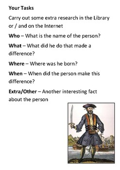 Blackbeard Timeline and Quotes Handout