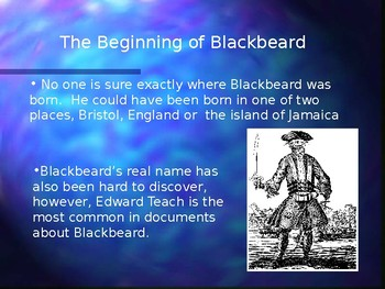 Blackbeard and Pirates PowerPoint