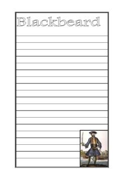 Blackbeard the Pirate Writing Paper