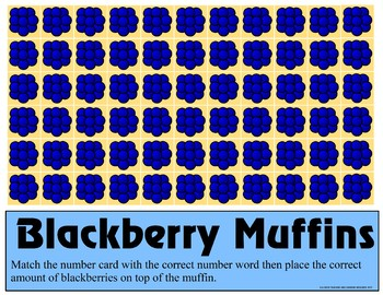 Blackberry Muffins Counting 0 -10 Mats - Learning Center Kit