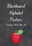 Blackboard Background Alphabet Posters (NSW Foundation & Editable)