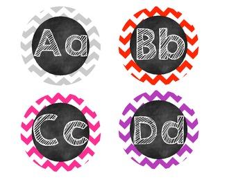 Blackboard Chevron Word Wall Headers