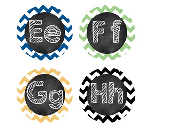 Blackboard Chevron Word Wall Headers
