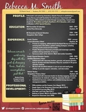 Creative Teacher Resume - Blackboard Template