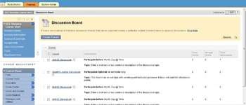 Blackboard Course Template
