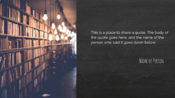 Blackboard: Slideshow Template for PowerPoint and Google Slides