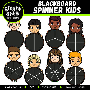 Blackboard Spinner Kids Clip Art