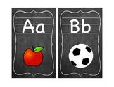Blackboard Style Classroom Alphabet