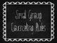 Blackboard/Chalkboard Small Group Rules