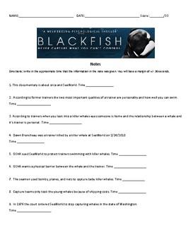 Blackfish Documentary Notes
