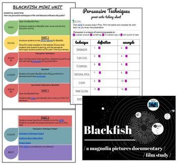 Blackfish Film Study Package - PAPERLESS & GOOGLE DRIVE READY!
