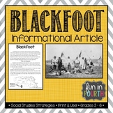 Blackfoot: Indigenous (First Nations, Aboriginal) Cultures Informational Article