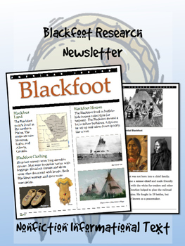 Blackfoot American Indian/Native American Research Newsletter! Crowfoot