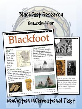 Blackfoot American Indian/Native American Research Newslet